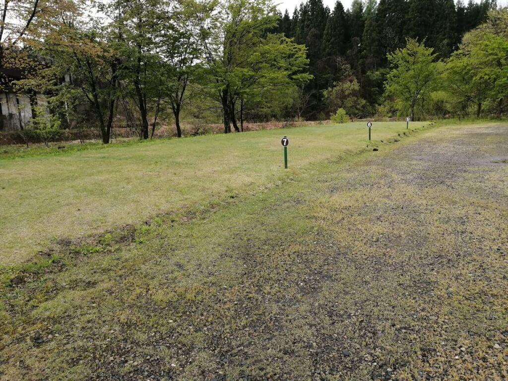 ロータスイン(さゆりオートパーク)のキャンプサイト