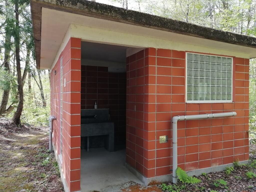 蓋沼森林公園のトイレ