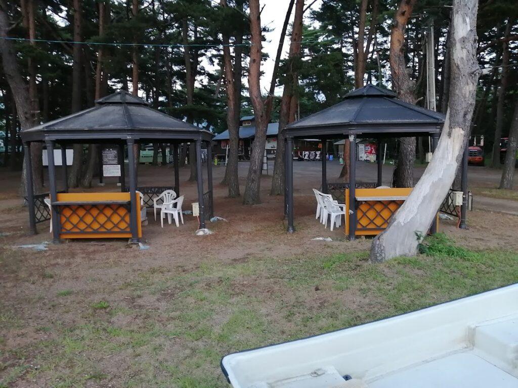 天神浜オートキャンプ場のガゼポ(少人数用BBQハウス)