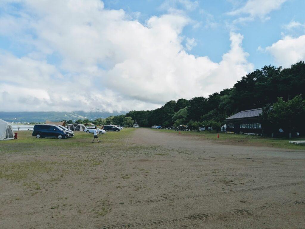天神浜オートキャンプ場からの景色